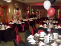 FUN.9 Decorated Function Theme Example - Red Satin Celebration