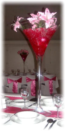 CBH.1  Decorated Giant Martini Glass Table Centre