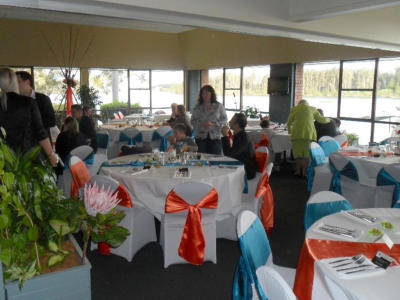 NAM.1 Orange and Aqua Wedding Reception - Nambucca Golf Club