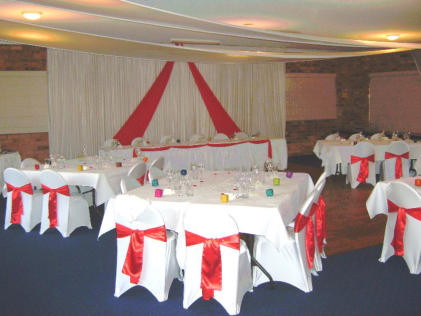 SSC.1 Sawtell Surf Club - Reception styled in Red Satin